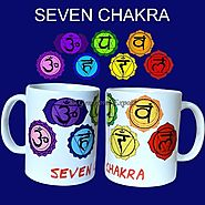 Buy CHAKRA COLOR SYMBOL PRINTED ON CERAMIC CUP at Gemstone Export