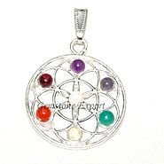 Buy FLOWER OF LIFE CHAKRA PENDANTS at Gemstone Export