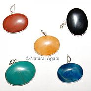 Buy Mix Gemstone Oval Pendants at Natural agate