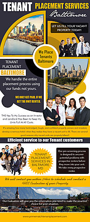 Baltimore Tenant Placement Services (Call us On 888-868-6291)