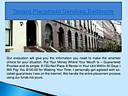 Tenant placement services baltimore