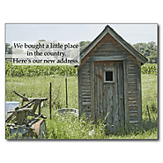 Change of Address Postcard: Country Home