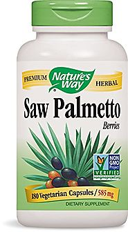 Nature's Way Saw Palmetto Berries; 585 mg Saw Palmetto Berries per serving; Non-GMO Project Verified; TRU-ID Certifie...