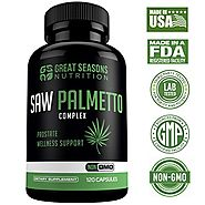 Saw Palmetto Supplement for Prostate Health - Non-GMO, 120 Capsules, Extract and Berry Powder Complex for Promoting H...