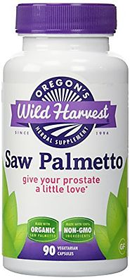 Oregon's Wild Harvest Saw Palmetto Organic Capsules, 90 Count vegetarian capsules, 1170mg
