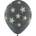 "25 Glow Print Star 11""Latex Balloon"