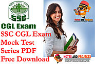 SSC CGL Mock Test Papers With Answers PDF In Hindi | Notes and Projects