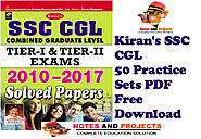 SSC CGL Practice Set Kiran Publication PDF Free Download | Notes and Projects