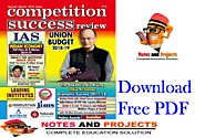 Competition Success Review (CSR) Magazine March-2018 Free PDF Download | Notes and Projects