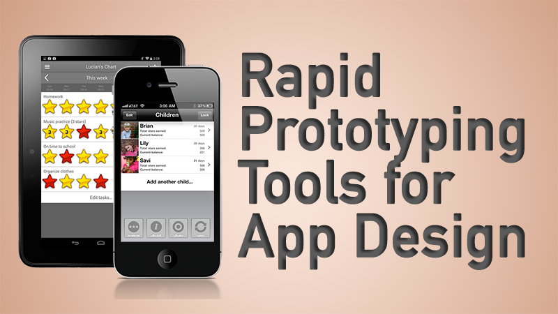Headline for Rapid Prototyping Tools for App Design