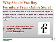 Furniture From Online Store