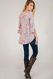 Buy Sleeve Floral Top