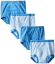 Gerber Baby Boys' 4 Pack Training Pants, Blue Striped, 18 Months