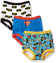 DC Comics Toddler Boys' Justice League 3 Pack Training Pant, JL Assorted Patterns, 3T
