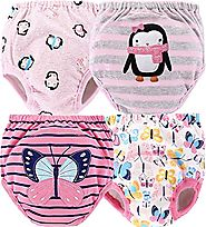 4 Pack Potty Training Pants Your Toddler Will Love! | Water-Resistant | Reusable & Machine Washable | Cute Designs Fo...