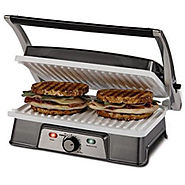Oster CKSTPM21WC-ECO DuraCeramic 2-in-1 Panini Maker and Grill - Kitchen Things