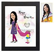 Home is wherever Mom is - Personalized Caricature Frame
