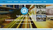 www.rrbmumbai.gov.in RRB Mumbai Official Site - Recruitment Notification Cut off Results - RRB Result
