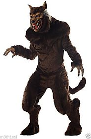 Werewolf Beast Monster Horror Scary Full Halloween Costume Adult Size
