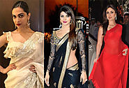 Top 8 bollywood actresses bold look in saree