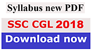 SSC CGL Syllabus 2018 PDF Download | SECTION WISE SYLLABUS | Exam Pattern | ई-जॉब मित्र - Best Free Job Alert India S...