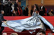 Winnie Harlow Dazzles Cannes Crowd In Silver Dress With Epic Train