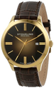 Stuhrling Original Men's 490.3335K31 Classic Cuvette II Swiss Quartz Date Gold Tone Watch