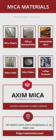 Buy Quality Mica Materials and Mica Products - Axim Mica
