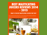Best Masticating Juicers Reviews 2014 - 2015