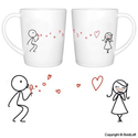 "BoldLoft ""From My Heart to Yours"" Couple Coffee Mugs-Romantic Valentine's Day Gifts for Couples,Cute Valentines Gifts..."