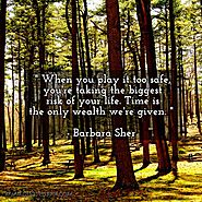 When you play it too safe, you're taking the biggest risk of your life. Time is the only wealth we're given. - Barbar...
