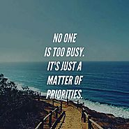 Prioritize your life!
