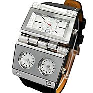 """THE MORNING STAR"" Men's Hinge Three Time Zone Wristwatch – Viking Watch"