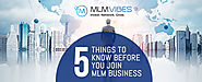 5 Things to Know Before You Join MLM Business - MLM Vibes
