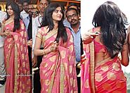 Latest Bollywood Designer Tanishaa Samantha Banarasi Pink Paper Silk S – Mahi Fashion