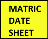 BISE Matric Date Sheet