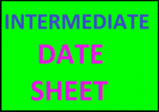 BISE Intermediate Date Sheet