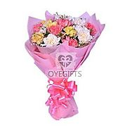 Buy/Send Cheerful Carnations Online Same Day Delivery - OyeGifts.com