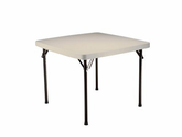 Amazon.com: Lifetime Card Table with 37-Inch Square Molded Top, Almond: Patio, Lawn & Garden