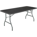 Mainstays 6-Foot Long Center-Fold Table by Cosco, Multiple Colors