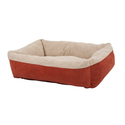 Aspen Pet 80138 Self Warming Rectangular Lounger for Pets, 35 by 27-Inch, Warm Spice with Creme