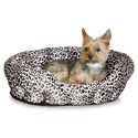 K&H Self Warming 19-Inch Leopard Pet Bed, Brown