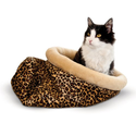 K&H Manufacturing Self Warming Leopard Kitty Sack