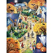 Halloween Town Jigsaw Puzzle - Puzzle Haven