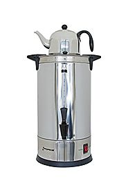 GForce GF-1479-966 Luxury Sabbath Hot Water Urn with Tea Kettle Included, 8.8 L, Stainless Steel Silver