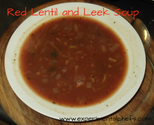 Red Lentil and Leek Soup
