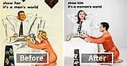 Sexist Vintage Ads Get Made Over With Reversed Gender Roles, And Some Men Will Not Like The Result