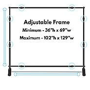 Wall26 Professional Large Tube Telescopic Tube for Photography Backdrop | Trade Show Display - 10'x8' : ...