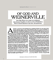 Marc Weiner : Of God and Weinerville