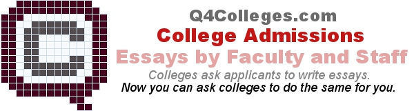 Headline for College Admissions Essays written by Faculty and Staff